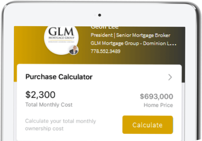 Mortgage mobile app
