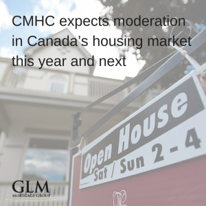 CMHC expects moderation in Canada's housing market this year and next