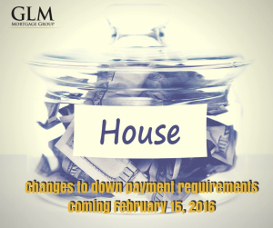 Changes to down payment requirements coming 2016
